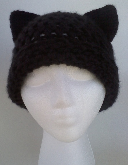 Here Kitty Kitty, Black Cat Adult size hat